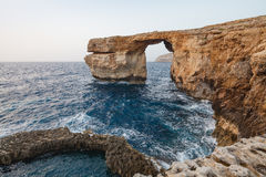 Azure Window. The Azure Window is a natural arch in the island of Gozo, Malta Stock Photos