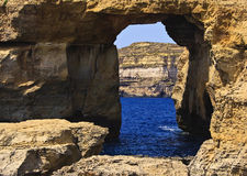 Azure Window. The Azure Window in Malta, Gozo Royalty Free Stock Images
