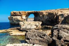 Azure Window,  arch of Gozo island , Malta Royalty Free Stock Images