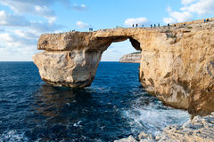Azure Window, arco de piedra famoso de Gozo Imagen de archivo