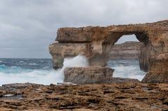 Azure Window berömd stenbåge Fotografering för Bildbyråer