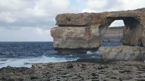 Azure Window, beroemde steenboog stock videobeelden
