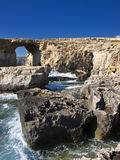 The Azure Window and Blue Hole Stock Images