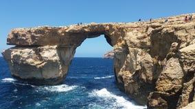 Azure window. Calypso Odysseus mythology sea waves Stock Image