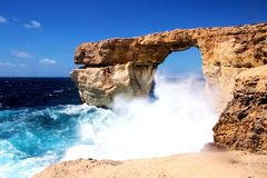 Azure Window dans Gozo, Malte photographie stock