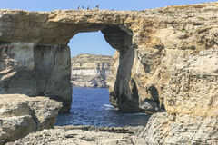 Azure Window at Dwejra Bay, Malta Royalty Free Stock Image