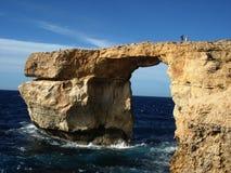 Azure Window, Dwejra Gozo Fotografia Stock Libera da Diritti
