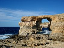 Azure Window, Dwejra Gozo. In Malta Stock Photo