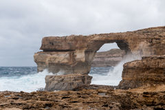 Azure Window, famous stone arch Stock Photos