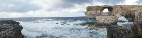 Azure Window, famous stone arch on Gozo island, Malta Stock Image