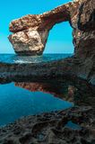 Azure Window, famous stone arch of Gozo island in Royalty Free Stock Images
