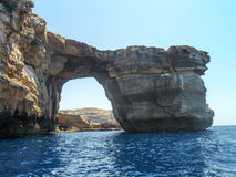 Azure Window. Famous stone arch of Gozo island in the sun in summer, Malta Stock Photography