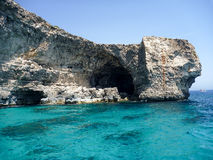 Azure Window. Famous stone arch of Gozo island in the sun in summer, Malta Royalty Free Stock Photo