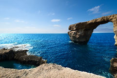 Azure Window formation on Gozo Island Stock Photography