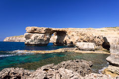Azure Window formation on Gozo Island Malta Stock Image