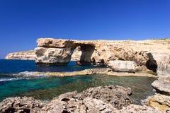 Azure Window formation on Gozo Island Malta. Azure Window on Gozo Island, Malta Stock Image