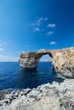 Azure Window formation on Gozo Royalty Free Stock Images
