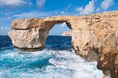 Azure window gozo. Azure window at Gozos coast Royalty Free Stock Photos