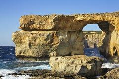 Azure Window  on Gozo island. Dwejra Bay. Malta Stock Images