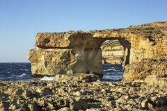 Azure Window  on Gozo island. Dwejra Bay. Malta Royalty Free Stock Images