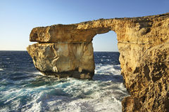 Azure Window  on Gozo island. Dwejra Bay. Malta Stock Photography