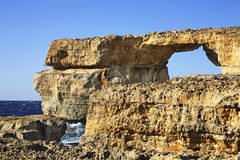 Azure Window  on Gozo island. Dwejra Bay. Malta Royalty Free Stock Photos