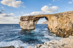 Azure Window in Gozo Island, Malta. Stock Photography