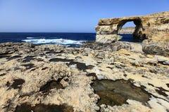 Azure window. On the gozo island, malta Royalty Free Stock Photo