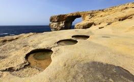 Azure window. On the gozo island, malta Royalty Free Stock Images