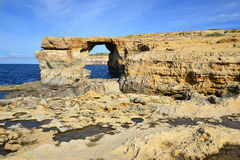 Azure window of Gozo island,Malta Royalty Free Stock Photo