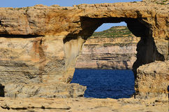 Azure window of Gozo island,Malta Royalty Free Stock Images