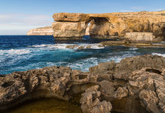 Azure Window, Gozo island, Malta Royalty Free Stock Photos