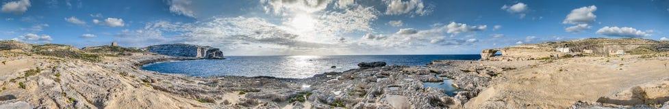 Azure Window in Gozo Island, Malta. Stock Images