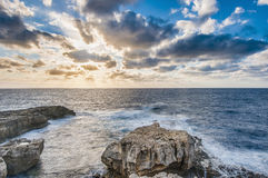Azure Window in Gozo Island, Malta. Royalty Free Stock Photo