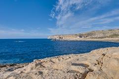 Azure Window in Gozo Island, Malta. Stock Photos