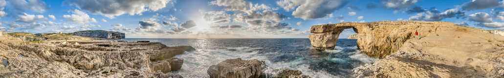 Azure Window in Gozo Island, Malta. Royalty Free Stock Images