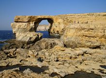 The Azure Window in Gozo Island Royalty Free Stock Photography