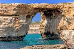 Azure Window in Gozo island Royalty Free Stock Photos