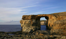 Azure Window, Gozo, Malta. Azure Window, also called Blue Window, in Dwejra, on the island of Gozo, Malta, Europe Royalty Free Stock Images