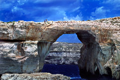 Azure Window, Gozo, Malta. Stock Photo