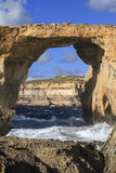 Azure Window Gozo Malta Royaltyfri Bild