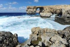 Azure Window in Gozo, Malta Stock Photography