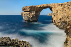 Azure Window, Gozo, Malta. Gorgeous landscape. Azure Window, famous stone arch of Gozo island in the sun in summer, Malta Stock Photography