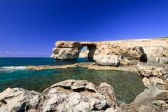 Azure Window on Gozo Malta horizontal Royalty Free Stock Photography
