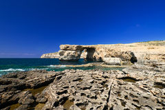 Azure Window on Gozo Malta horizontal and wide Stock Photography