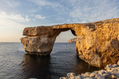 Azure Window Gozo, Malta. The iconic landmark of the Gozo island. Malta. It It collapsed on 8 March 2017 into the sea after heavy storms Stock Photo