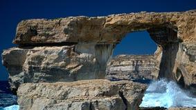 Azure window. In Gozo, Malta islands Stock Photography