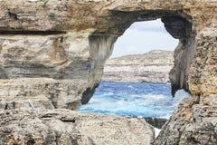 Azure window in Gozo. Azure window of rock in Gozo in Malta Royalty Free Stock Image