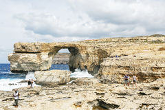 Azure window in Gozo Stock Photos