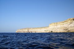Azure  Window and the grotto ,famous limestone arch Royalty Free Stock Images
